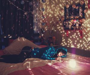 bedroom, girl, and light image