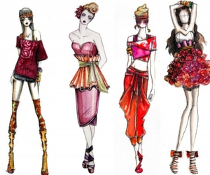 fashion, red, and pink image
