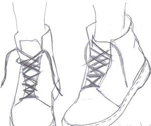dessin, chaussures, and vintage image