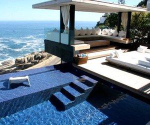 pool, luxury, and sea image