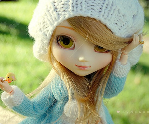 beautiful, blue, and doll image