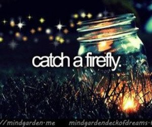 bucket list, before i die, and fireflies image