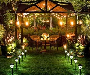 garden, light, and romantic image