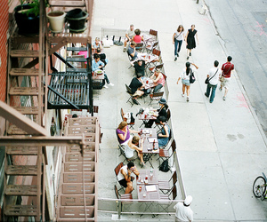 people, city, and street image