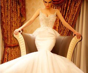 *-*, wedding dress, and white dress image