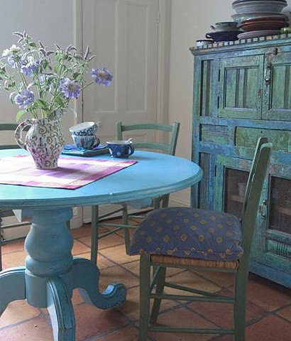 blue, table, and dining room image