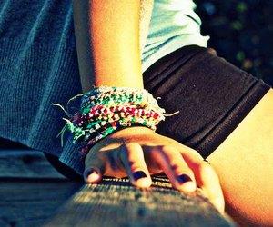 girl, bracelet, and summer image