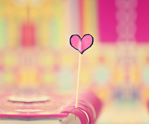 heart, book, and pink image