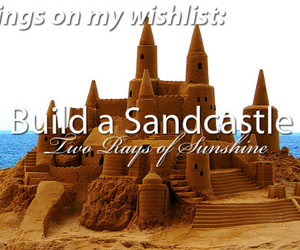 castle, sand, and wish image