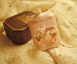 juicy couture, earrings, and girly image