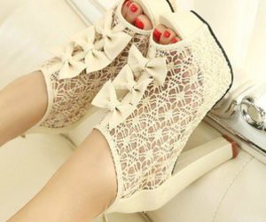 shoes, high heels, and white image