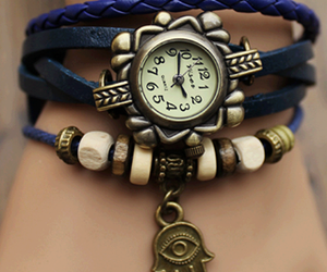 accessories, blue, and watch image