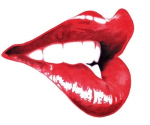 lips, red, and sexy image