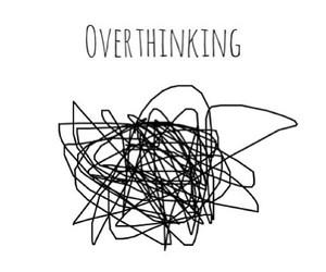 overthinking and sad image