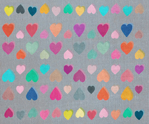 colors, hearts, and backgrounds image