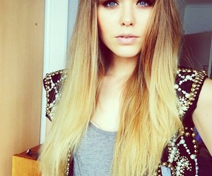 blonde, kristina bazan, and hair image