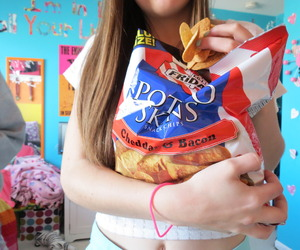 chips, food, and tumblr image