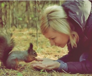 blonde, squirrel, and cute image