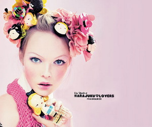 girl, advertising, and pink image