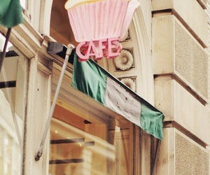 cupcake, cafe, and pink image