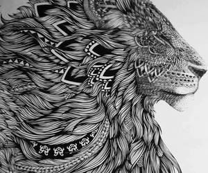 draw, jah, and lion image