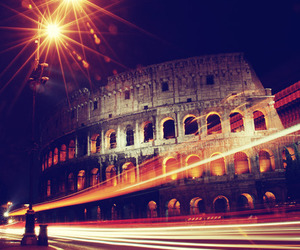 rome, colosseo, and light image