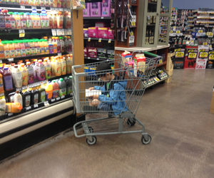 asian, cart, and grocery image