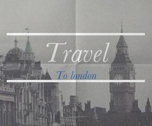 black, clock, and travel image