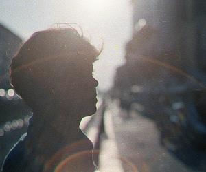 boy, sun, and light image