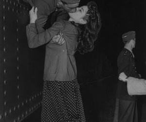 love, kiss, and black and white image