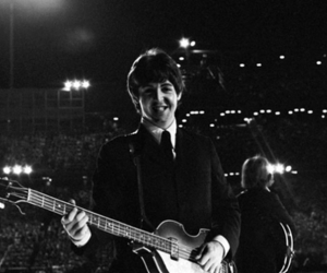 black and white, paul, and the beatles image