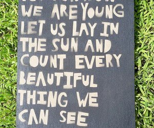 young, quote, and grass image