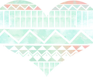 aztec, heart, and hipster image