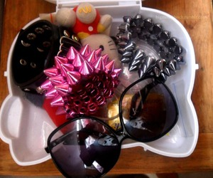 accessories, sunnies, and bracelet image
