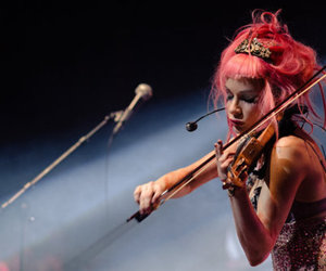 Emilie Autumn, heart, and violin image