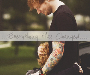 ed sheeran and everything has changed image