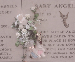 angel, baby, and flowers image