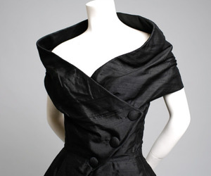 1955, black, and cocktail dress image