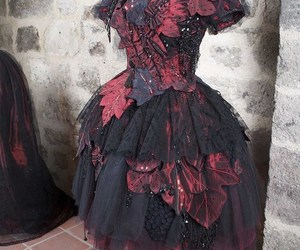 dress, fashion, and goth image