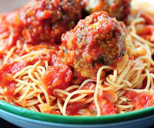 italian, meatballs, and pasta image