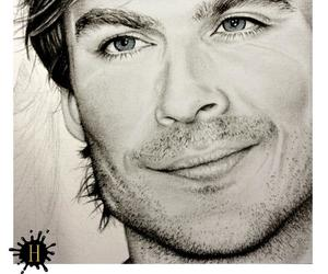 drawing, somerhalder, and ian image