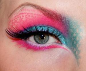 pink, make up, and eyes image
