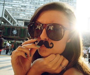 girl and mustache image