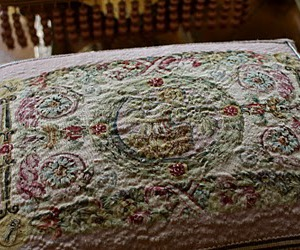 embroidery, france, and interior image