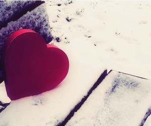 heart, red, and snow image