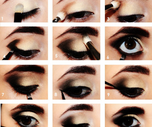black and smokey eye image