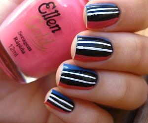 azul, blue, and nail art image