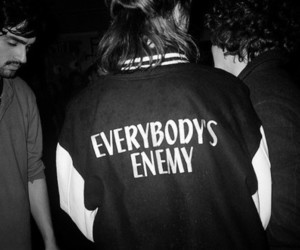 enemy, jacket, and text image