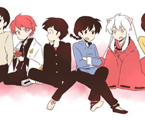 inuyasha, maison ikkoku, and crossover image