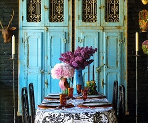 blue, vintage, and flowers image
